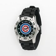 Game Time Chicago Cubs Silver Tone MVP Watch - Men