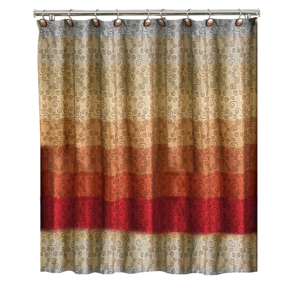 Brown And White Shower Curtain Rickevans Homes