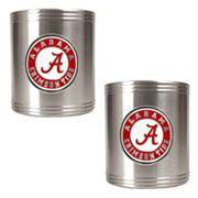 Alabama Crimson Tide 2-pc. Stainless Steel Can Holder Set