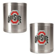 Ohio State Buckeyes 2-pc. Stainless Steel Can Holder Set
