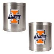 Illinois Fighting Illini 2-pc. Stainless Steel Can Holder Set