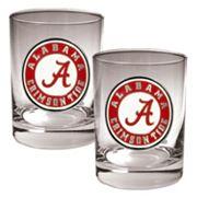 Alabama Crimson Tide 2 pc Rocks Glass Set