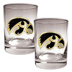 Iowa Hawkeyes 2 pc Rocks Glass Set