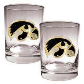 Iowa Hawkeyes 2-pc. Rocks Glass Set