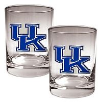 Kentucky Wildcats 2 pc Rocks Glass Set