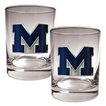 Michigan Wolverines 2-pc. Rocks Glass Set