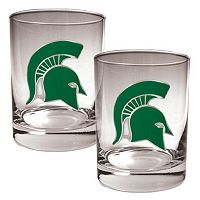 Michigan State Spartans 2-pc. Rocks Glass Set