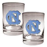 North Carolina Tar Heels 2 pc Rocks Glass Set