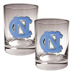 North Carolina Tar Heels 2-pc. Rocks Glass Set