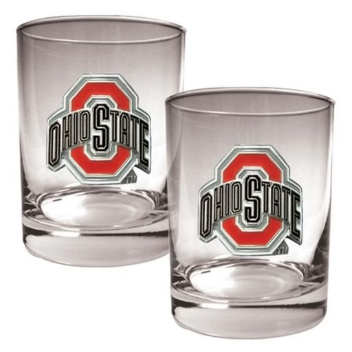 Ohio State Buckeyes 2-pc. Rocks Glass Set