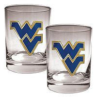 West Virginia Mountaineers 2-pc. Rocks Glass Set