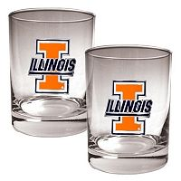 Illinois Fighting Illini 2 pc Rocks Glass Set