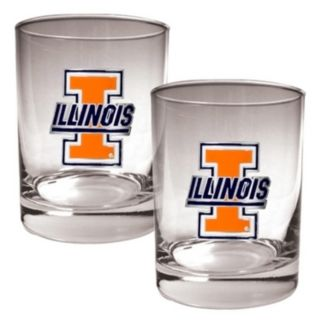 Illinois Fighting Illini 2-pc. Rocks Glass Set