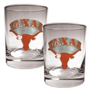 Texas Longhorns 2-pc. Rocks Glass Set