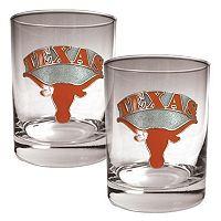 Texas Longhorns 2 pc Rocks Glass Set