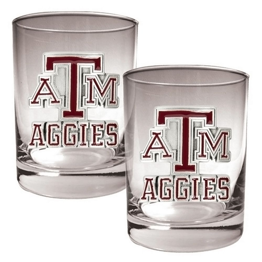 Texas A&M Aggies 2-pc. Rocks Glass Set