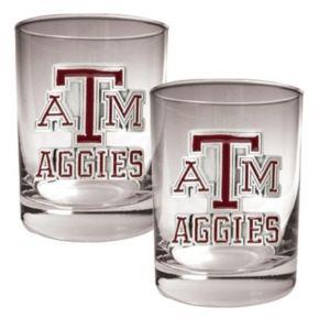 Texas A and M Aggies 2-pc. Rocks Glass Set