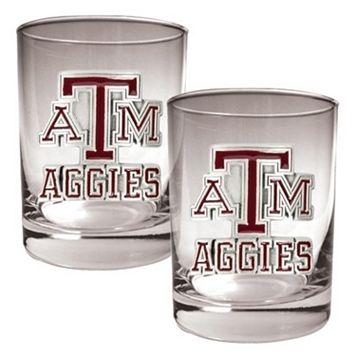 Texas A&M Aggies 2-pc. Rocks Glass Set