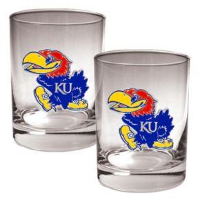Kansas Jayhawks 2-pc. Rocks Glass Set