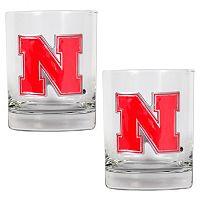 Nebraska Cornhuskers 2 pc Rocks Glass Set