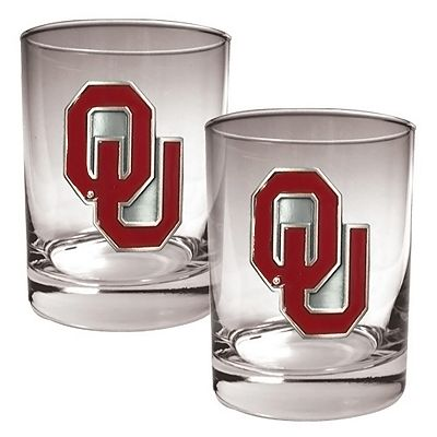 Oklahoma Sooners 2-pc. Rocks Glass Set
