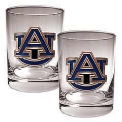 Auburn Tigers 2 pc Rocks Glass Set