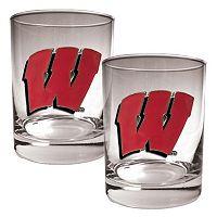 Wisconsin Badgers 2-pc. Rocks Glass Set