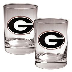 Georgia Bulldogs 2 pc Rocks Glass Set