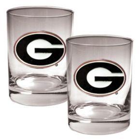 Georgia Bulldogs 2-pc. Rocks Glass Set