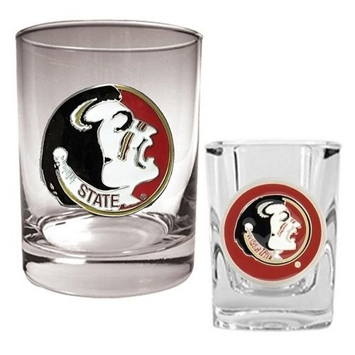 Florida State Seminoles 2-pc. Rocks & Shot Glass Set