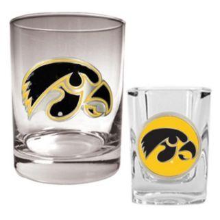 Iowa Hawkeyes 2-pc. Rocks and Shot Glass Set