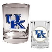Kentucky Wildcats 2 pc Rocks & Shot Glass Set