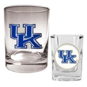 Kentucky Wildcats 2-pc. Rocks and Shot Glass Set