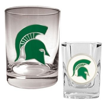Michigan State Spartans 2-pc. Rocks & ShotGlass Set