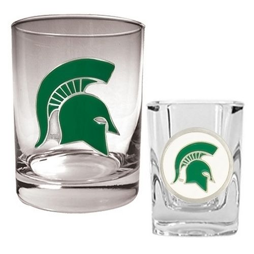 Michigan State Spartans 2-pc. Rocks & ShotGlass Set