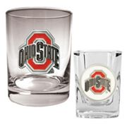 Ohio State Buckeyes 2-pc. Rocks and Shot Glass Set