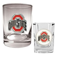 Ohio State Buckeyes 2-pc. Rocks and Shot Glass Set