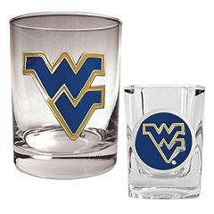 West Virginia Mountaineers 2-pc. Rocks and Shot Glass Set