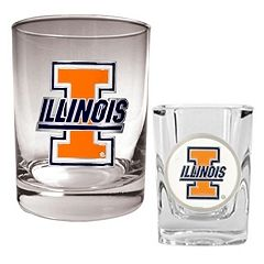 Illinois Fighting Illini 2-pc. Rocks and Shot Glass Set