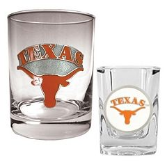 Texas Longhorns 2-pc. Rocks and Shot Glass Set