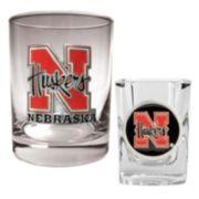 Nebraska Cornhuskers 2-pc. Rocks and Shot Glass Set