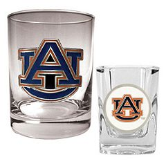 Auburn Tigers 2-pc. Rocks and Shot Glass Set