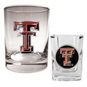 Texas Tech Red Raiders 2 pc Rocks and Shot Glass Set