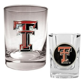 Texas Tech Red Raiders 2-pc. Rocks and Shot Glass Set