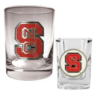 North Carolina State Wolfpack 2-pc. Rocks and Shot Glass Set