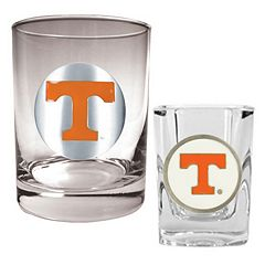 Tennessee Volunteers 2 pc Rocks and Shot Glass Set