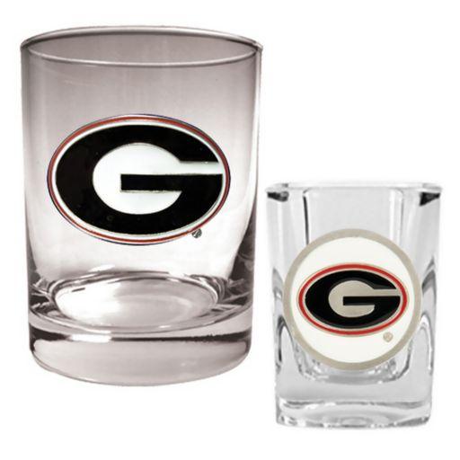 Georgia Bulldogs 2-pc. Rocks and Shot Glass Set