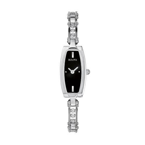 Bulova Stainless Steel Crystal Watch - Women