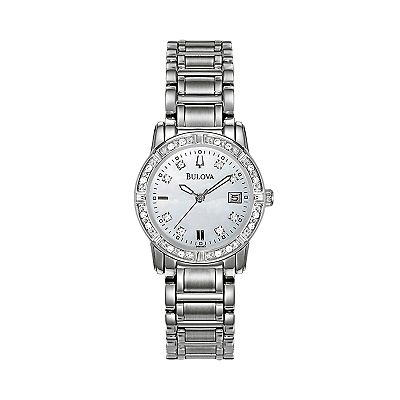 Bulova Stainless Steel Diamond Accent Watch - 96R105 - Women