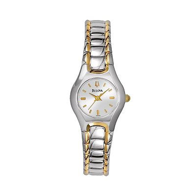 Bulova Stainless Steel Two Tone Watch - Women